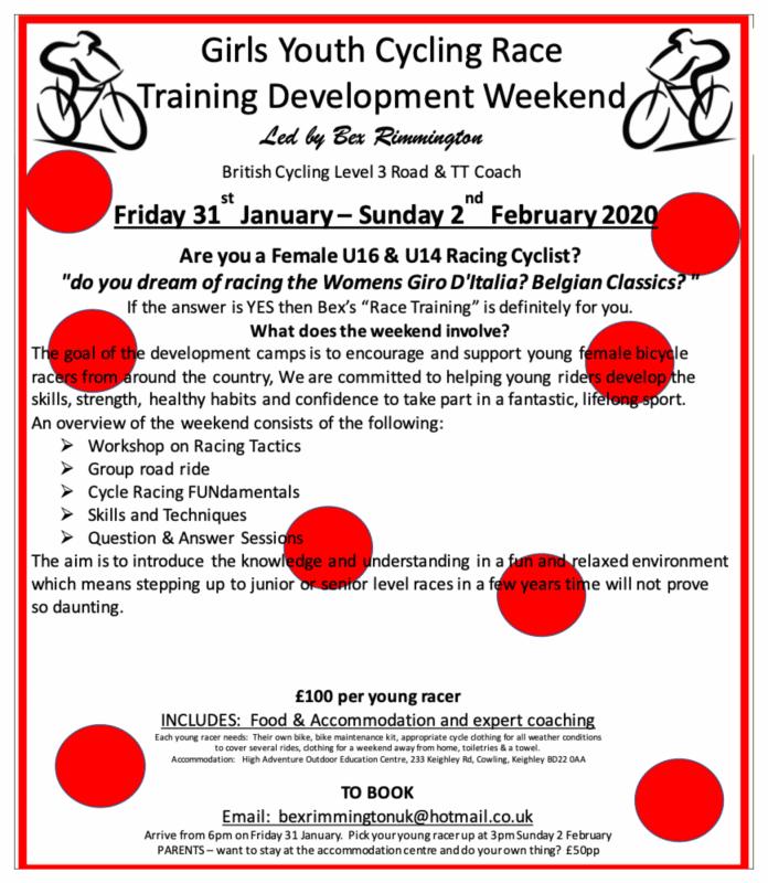 Girls Youth Cycling Race Training Development Weekend